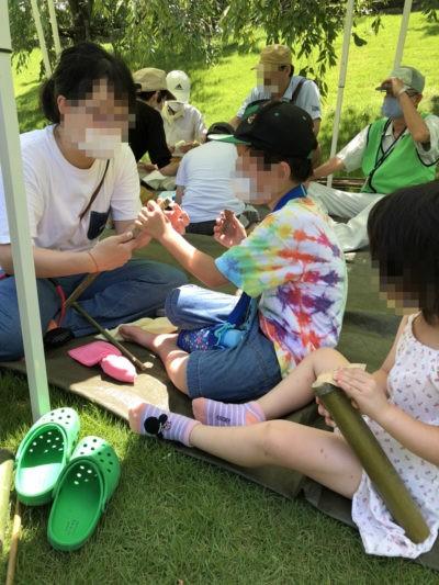 竹の水てっぽう作り1