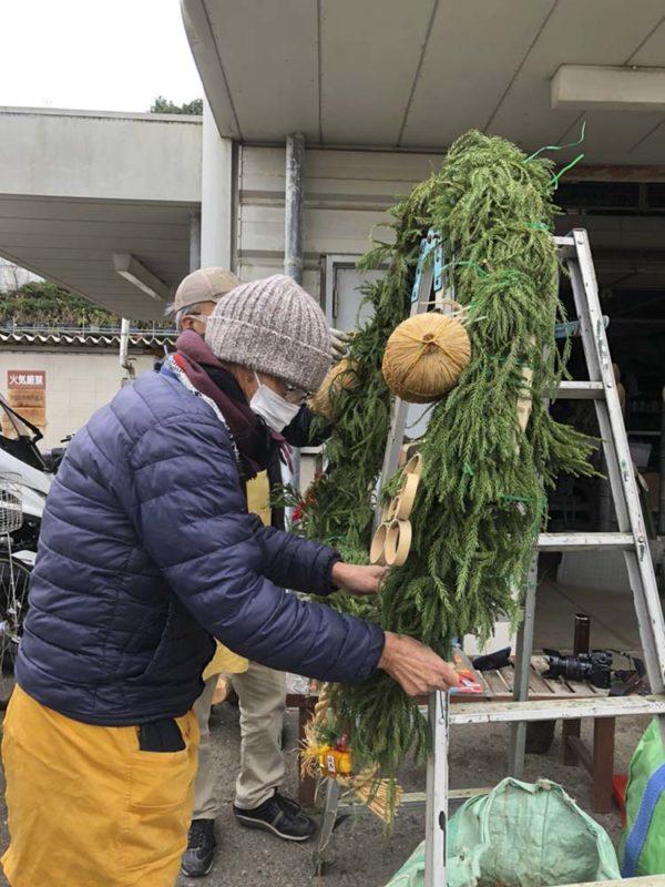 12/26正月飾り付け作成02